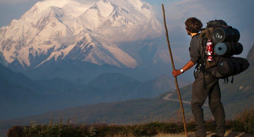 Trekking på et bjerg
