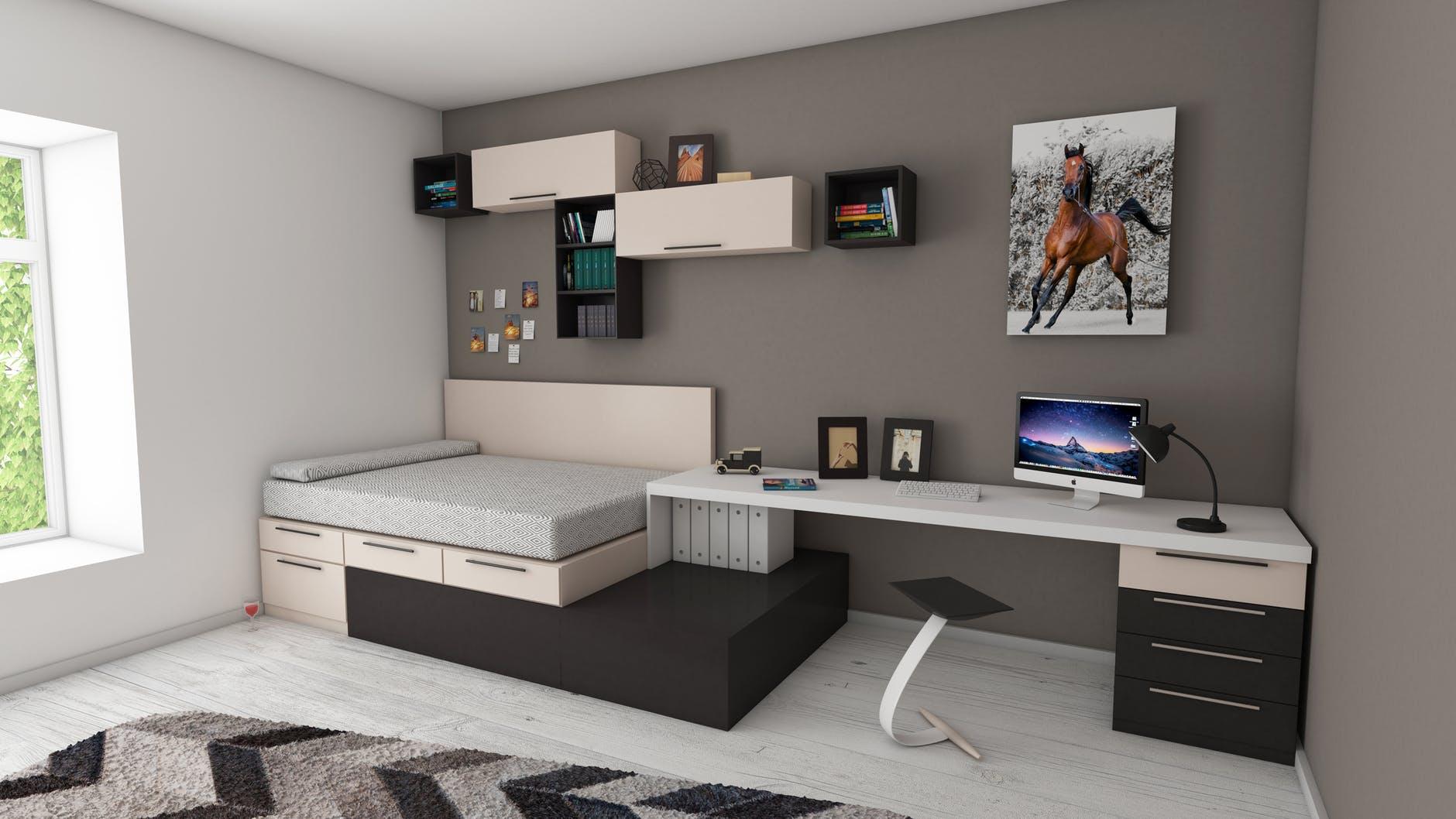 Møbler på lidt plads