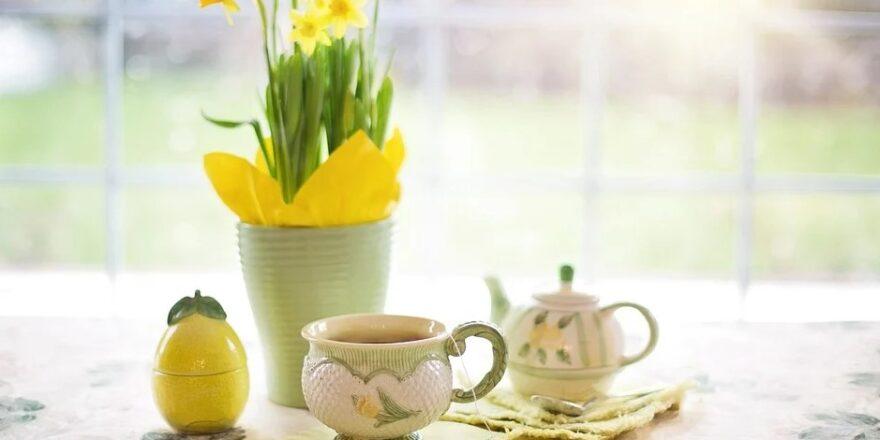 Påskeliljer og te