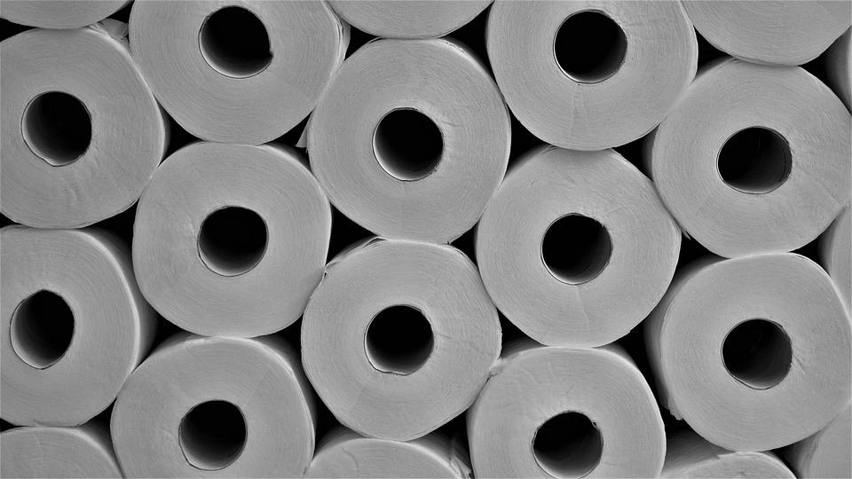 Toiletpapir i massevis
