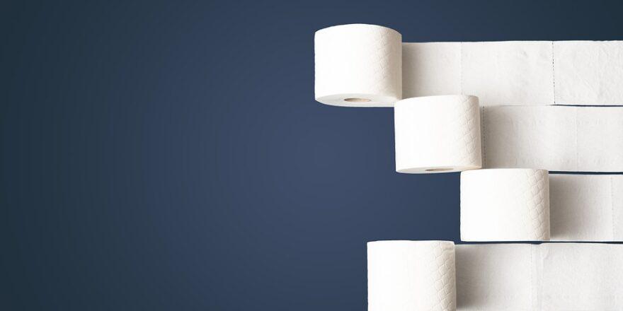 ruller af toiletpapir